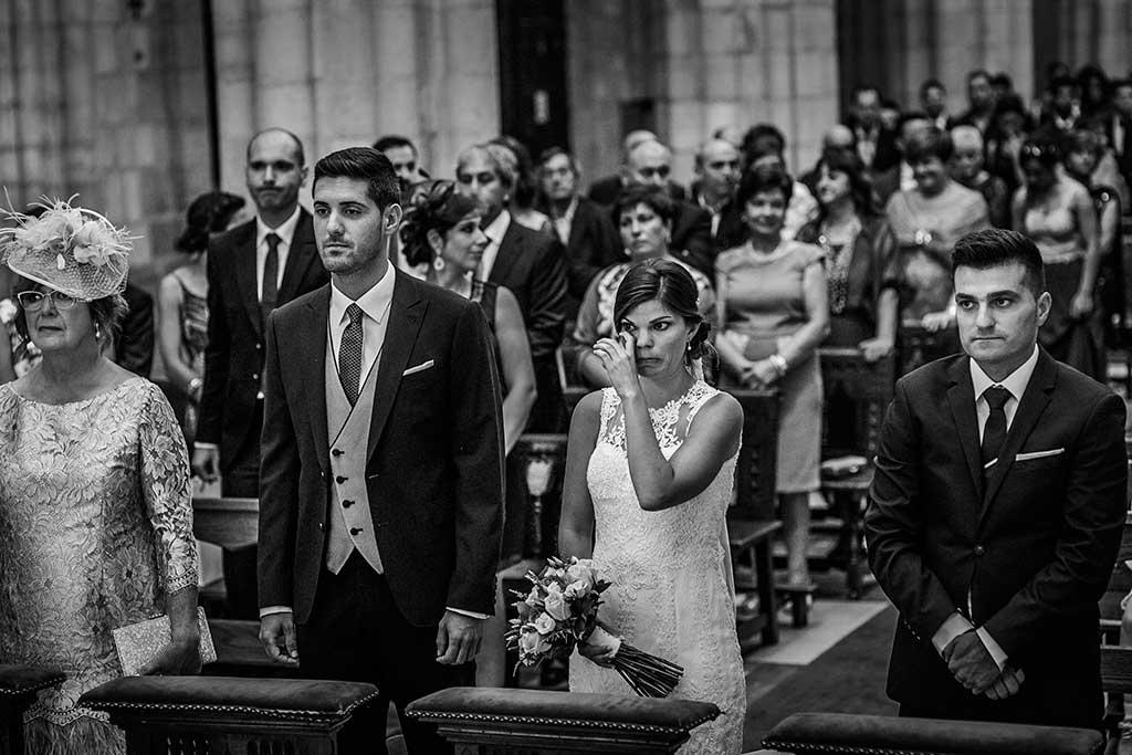 fotografo de bodas Santander Mario Carla novia llorando