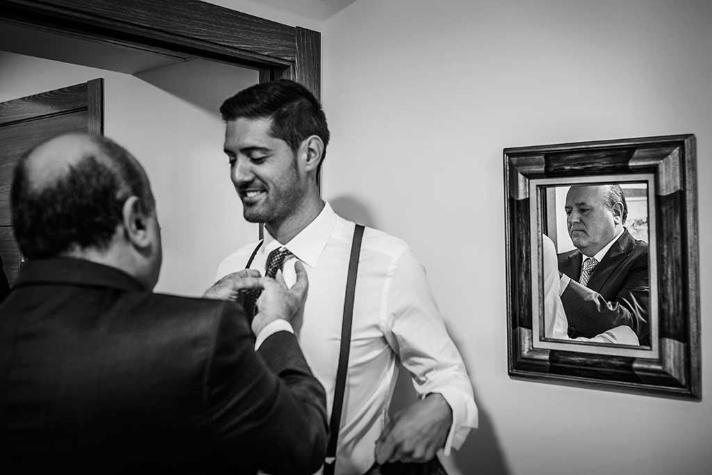fotografo de bodas Santander Mario Carla papa novio