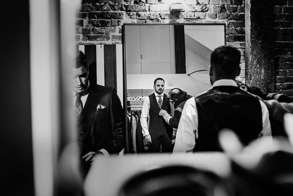 fotografo de bodas en Cantabria Maria y Borja espejo