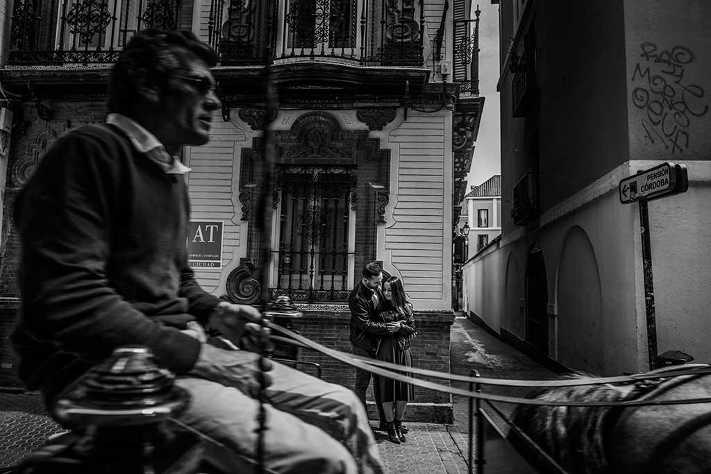 Fotógrafo de bodas Sevilla Marcos Greiz calesa