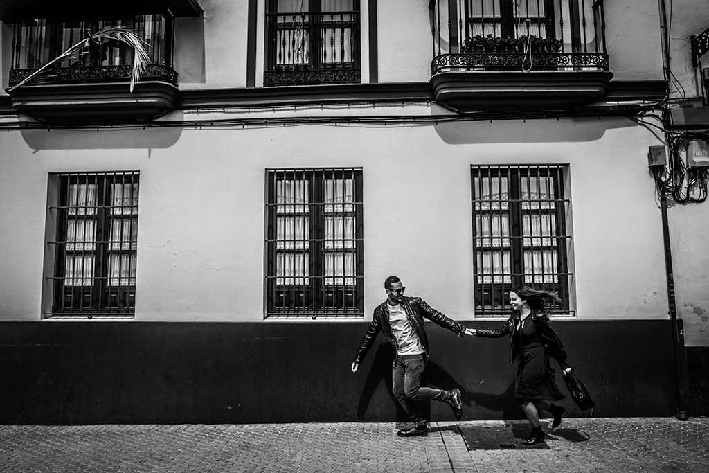 Fotógrafo de bodas Sevilla Marcos Greiz correr