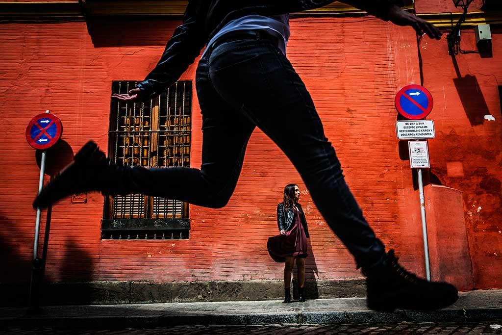Fotógrafo de bodas Sevilla Marcos Greiz salto