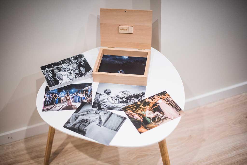 fotógrafo bodas Marcos Greiz caja fotografías