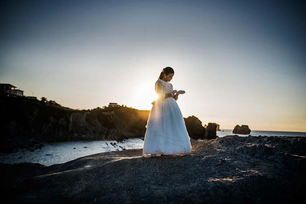 fotos comunión Cantabria arnia Marcos Greiz Anjana puesta de sol