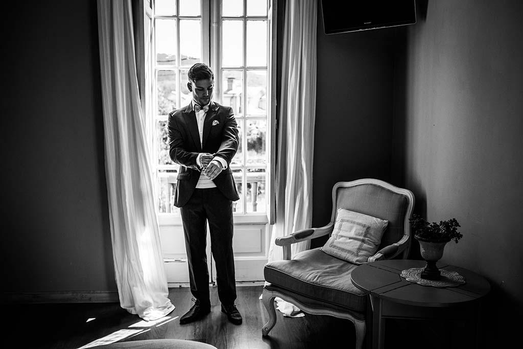 Fotógrafo de bodas Cantabria Marcos Greiz Ane y Felix novio