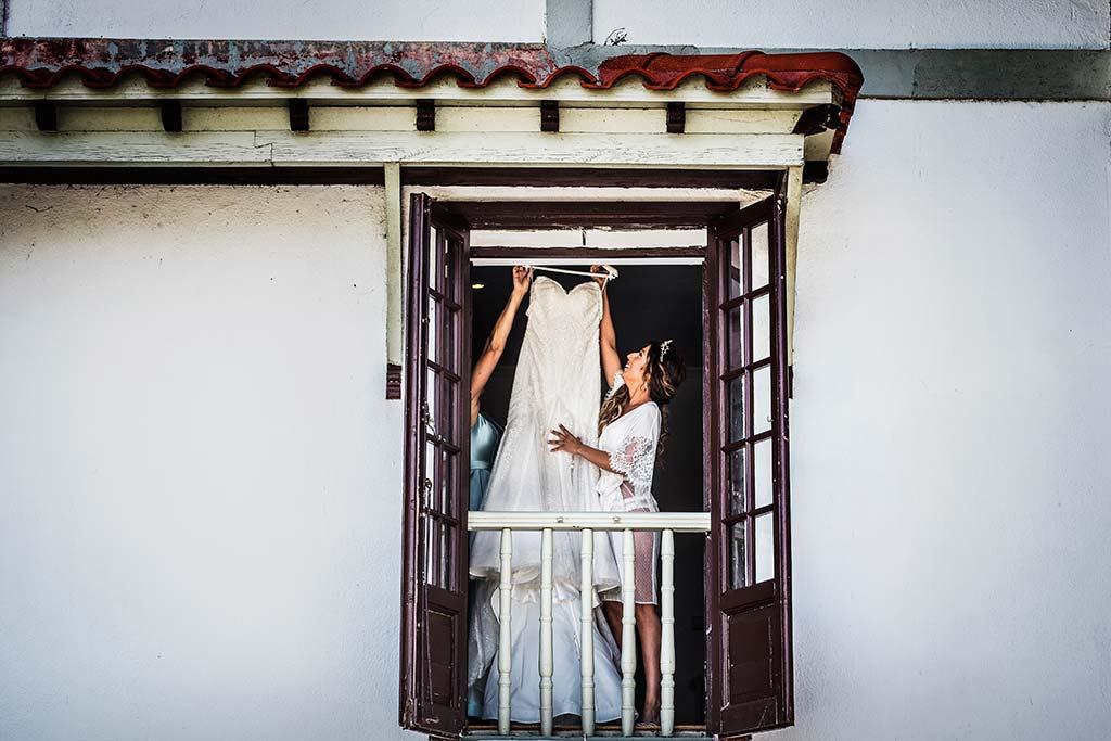 Fotógrafo de bodas Cantabria Marcos Greiz Ane y Felix vestido