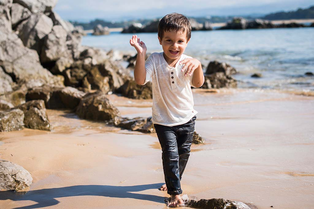 fotos de niños Santander Marcos Greiz Alex playa