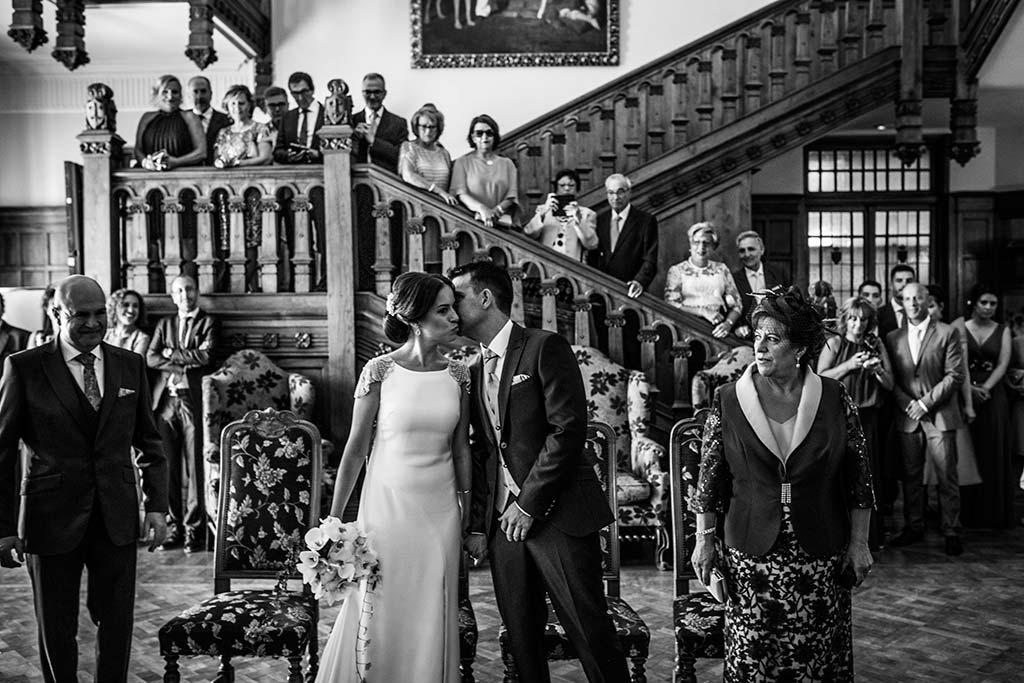 fotografo de bodas Santander Marcos-Greiz Cecilia y Saúl besito