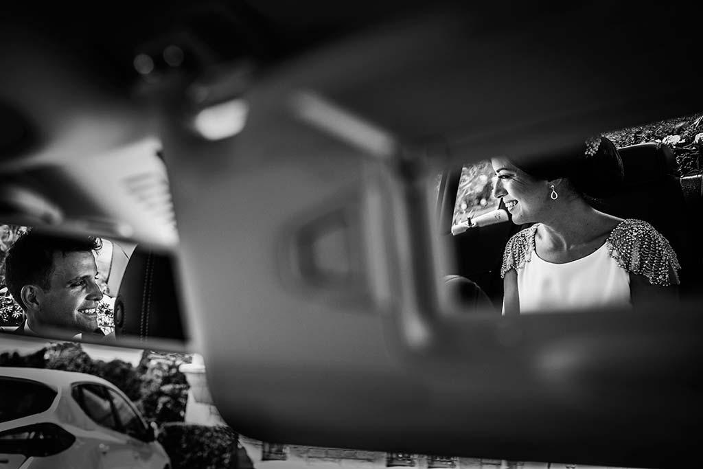 fotografo de bodas Santander Marcos-Greiz Cecilia y Saúl coche