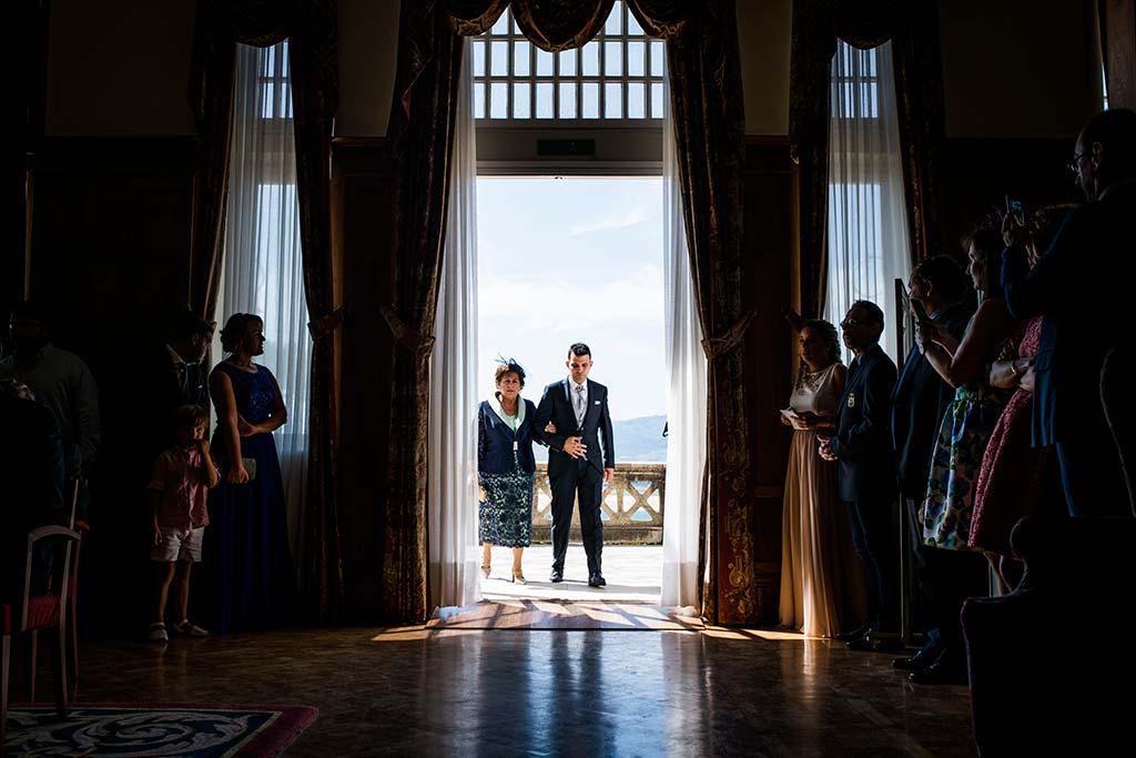 fotografo de bodas Santander Marcos-Greiz Cecilia y Saúl entrada novio