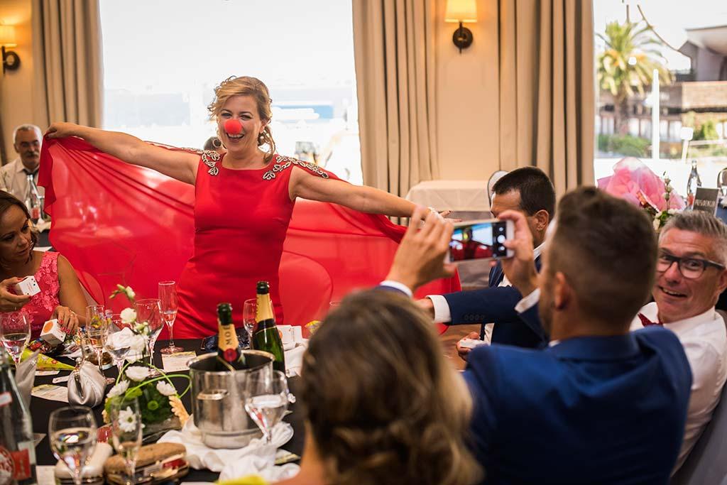 fotografo de bodas Santander Marcos-Greiz Cecilia y Saúl payaso