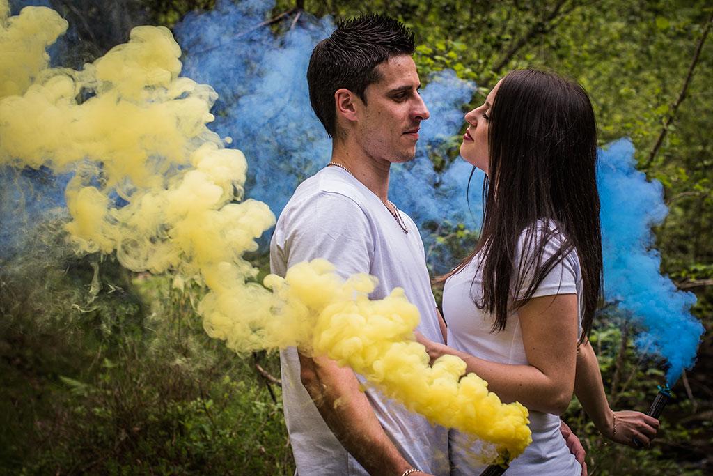 fotógrafo de bodas Santander Marcos Greiz Maria y Javi humo