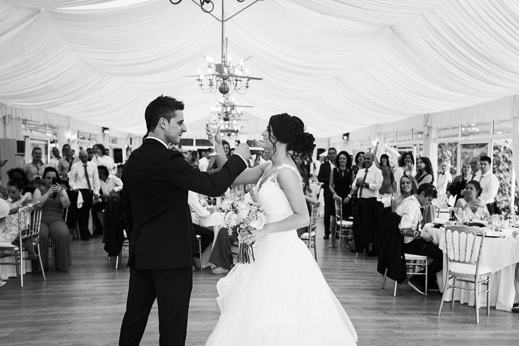 fotógrafo de bodas Santander Marcos Greiz Maria y Javi brindis