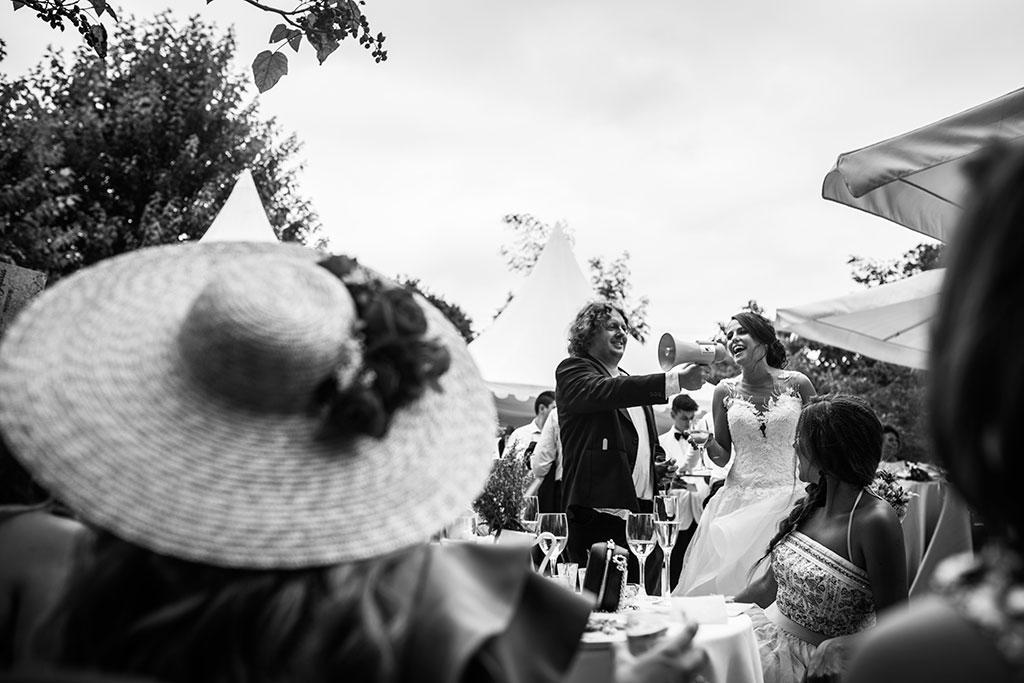 fotógrafo de bodas Santander Marcos Greiz Maria y Javi megafono