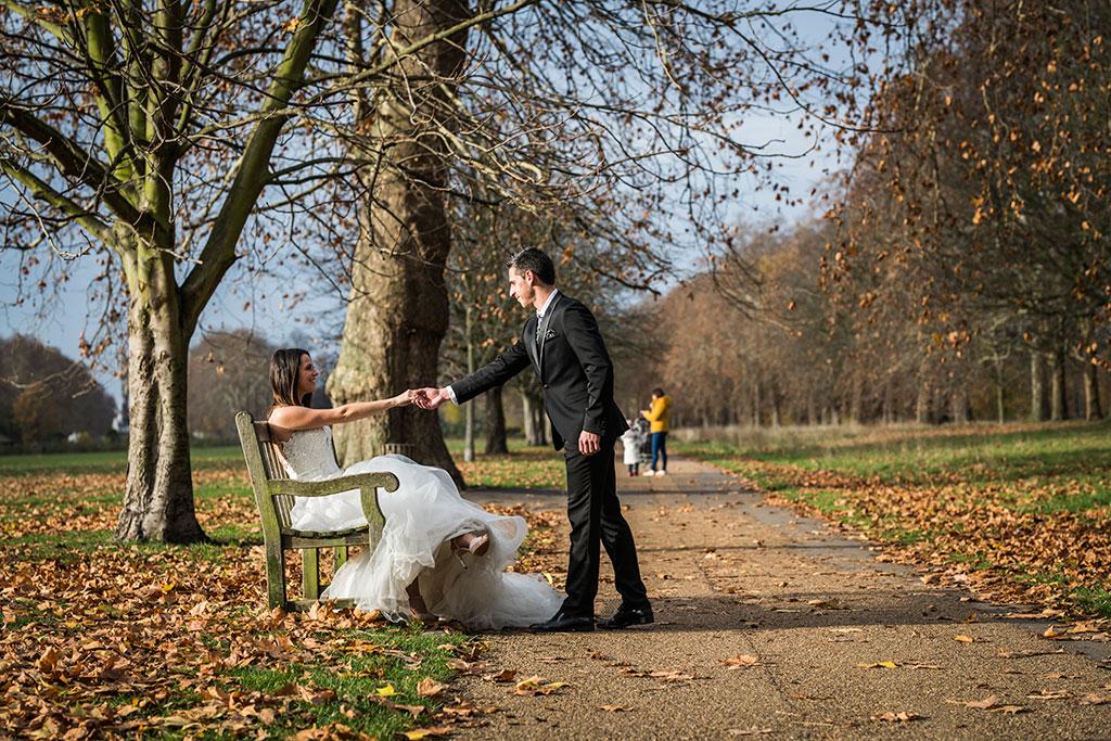 fotógrafo de bodas Santander Marcos Greiz Maria y Javi parque