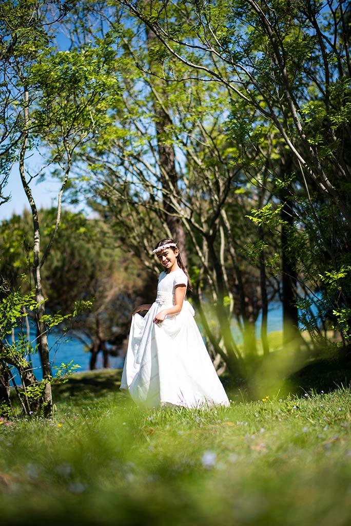 Fotógrafo Santander comunión Celia vestido