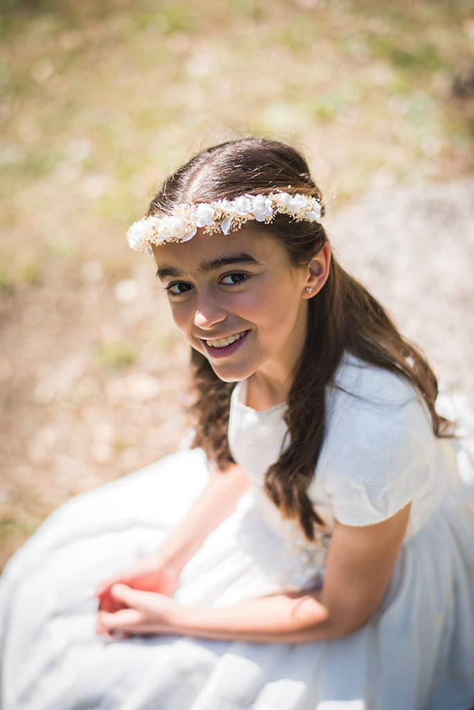 Fotógrafo Santander comunión Celia retrato