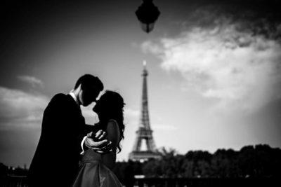 fotografo bodas Santander Magy Ivan besos Paris