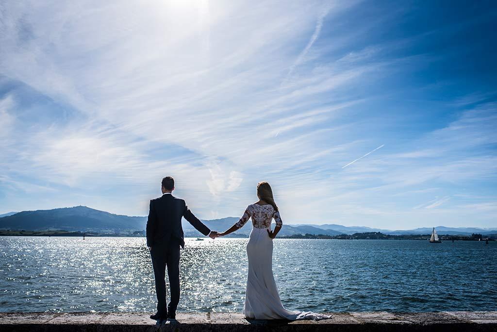 fotógrafo de bodas Cantabria Ana y Mario bahía Santander