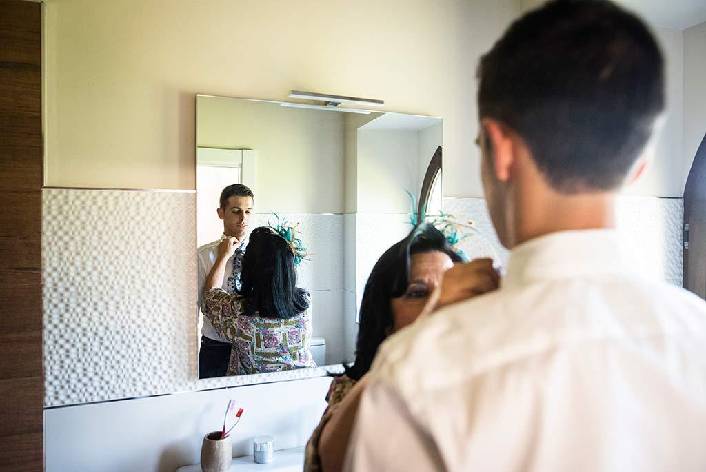 fotógrafo de bodas Cantabria Ana y Mario espejo
