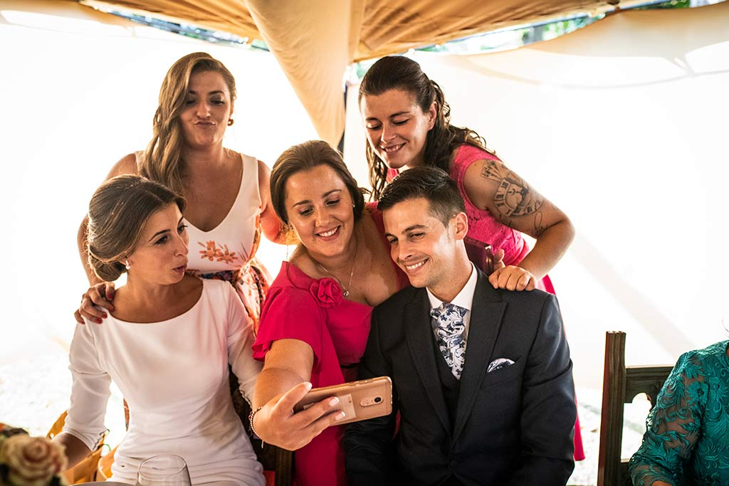 fotógrafo de bodas Cantabria Ana y Mario selfie