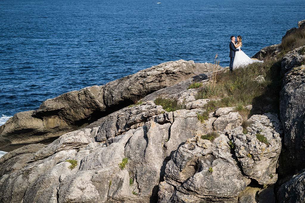 Fotógrafo de bodas Cantabria Marcos Greiz, Katia y Sergio acantilados