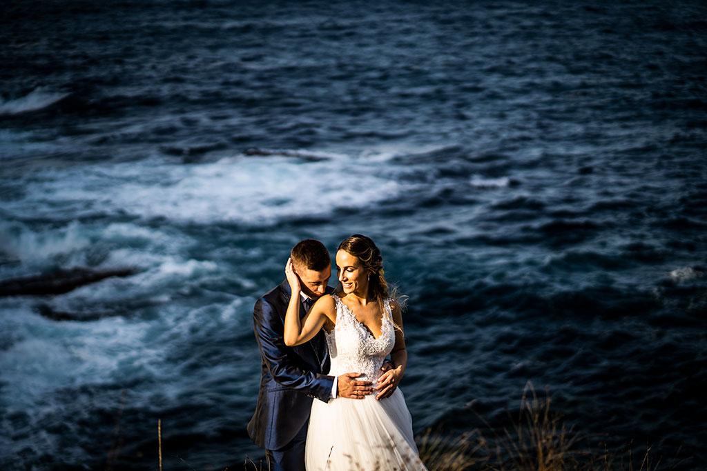 Fotógrafo de bodas Cantabria Marcos Greiz, Katia y Sergio besito