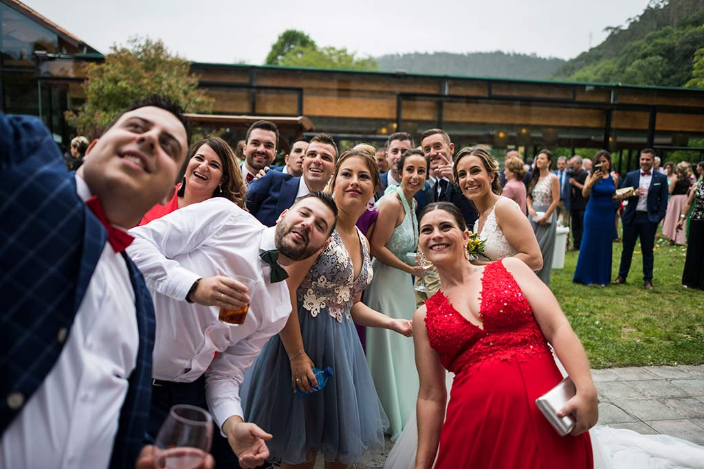 Fotógrafo de bodas Cantabria Marcos Greiz, Katia y Sergio selfie