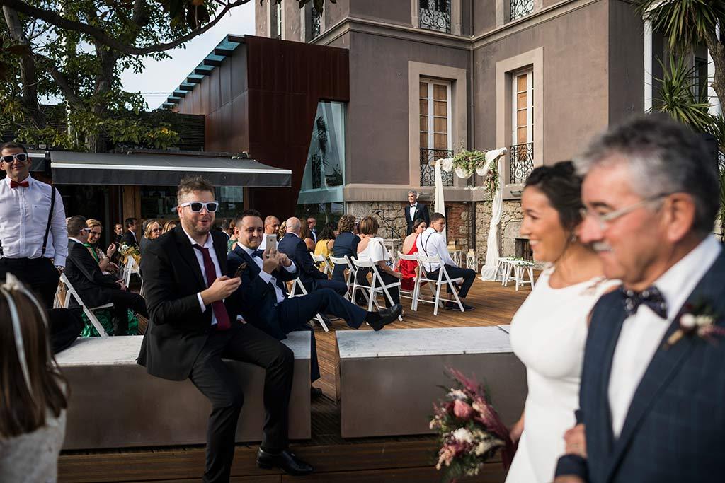 Fotógrafo de bodas Santander Marcos Greiz Noe Ricardo llegada