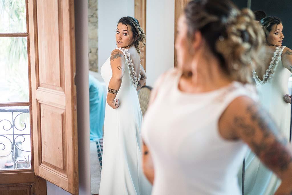 Fotógrafo de bodas Santander Marcos Greiz Noe Ricardo espejo novia
