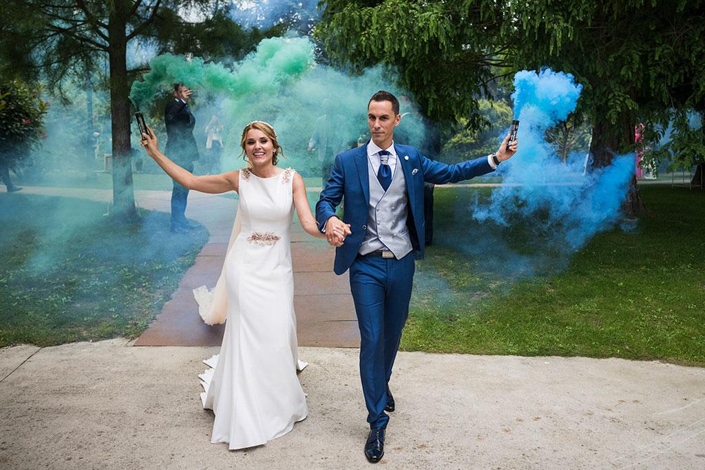 Fotógrafo de bodas Cantabria Marcos Greiz Isa Jose humo