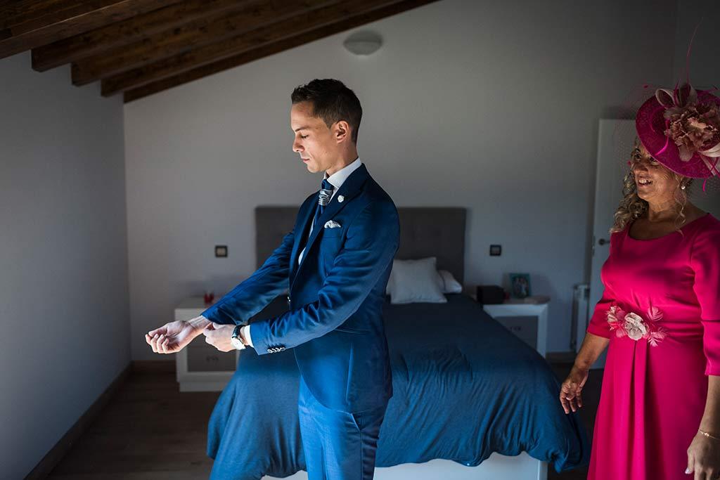 Fotógrafo de bodas Cantabria Marcos Greiz Isa Jose novio