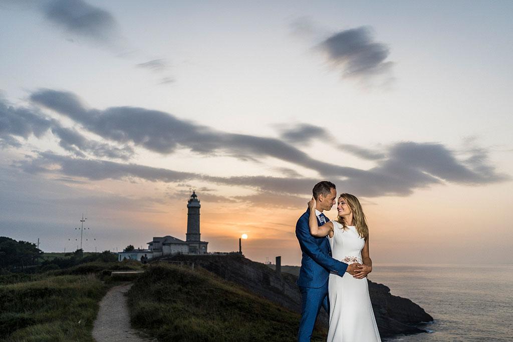 Fotógrafo de bodas Cantabria Marcos Greiz Isa Jose atardecer
