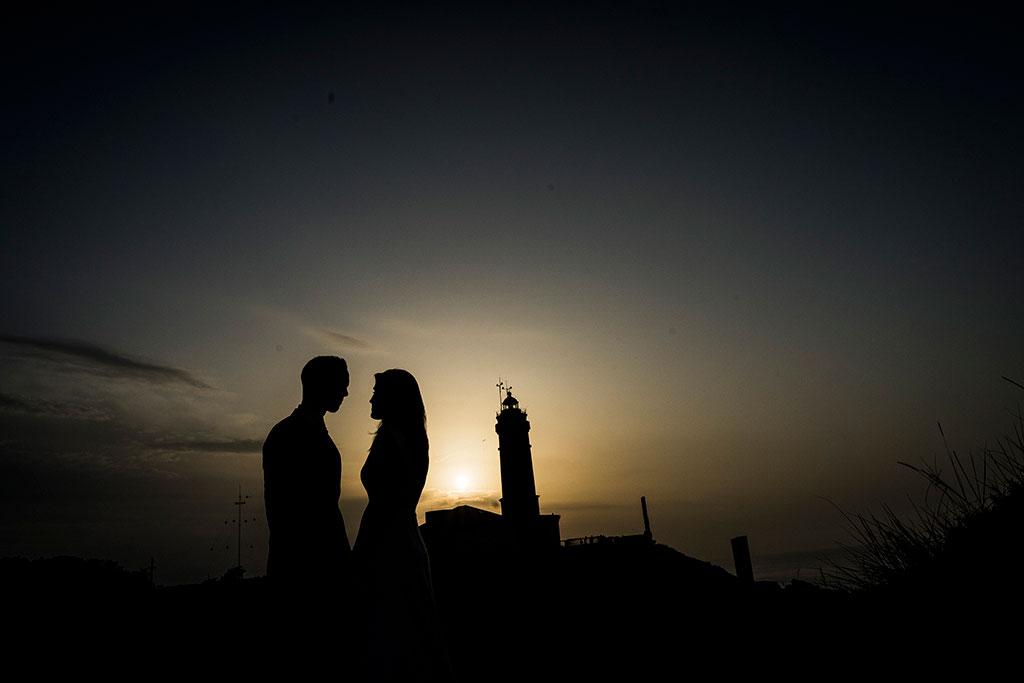 Fotógrafo de bodas Cantabria Marcos Greiz Isa Jose siluetas