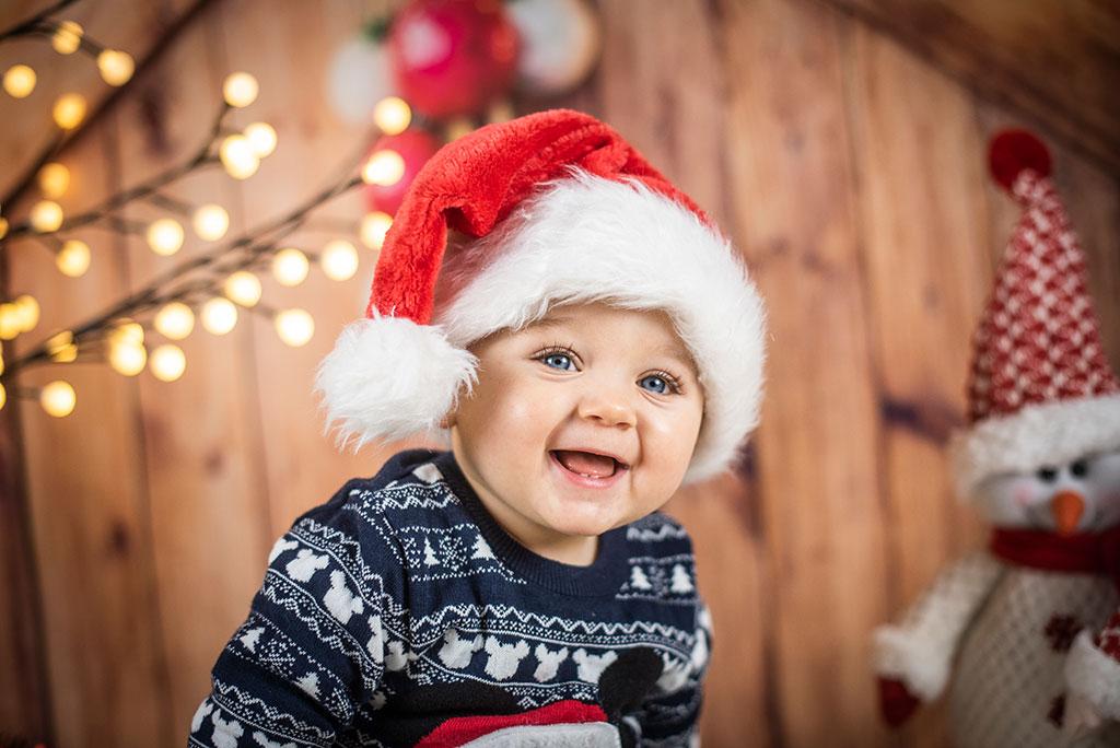 fotos de bebes Santander Oliver navidad