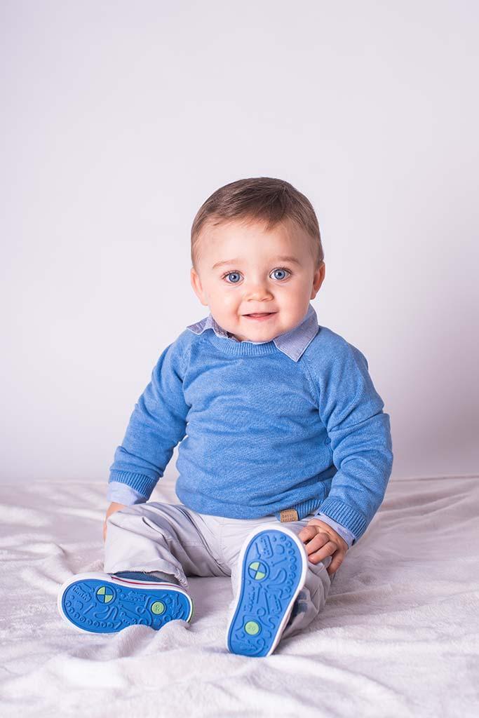 fotos de bebes Santander Oliver sentado