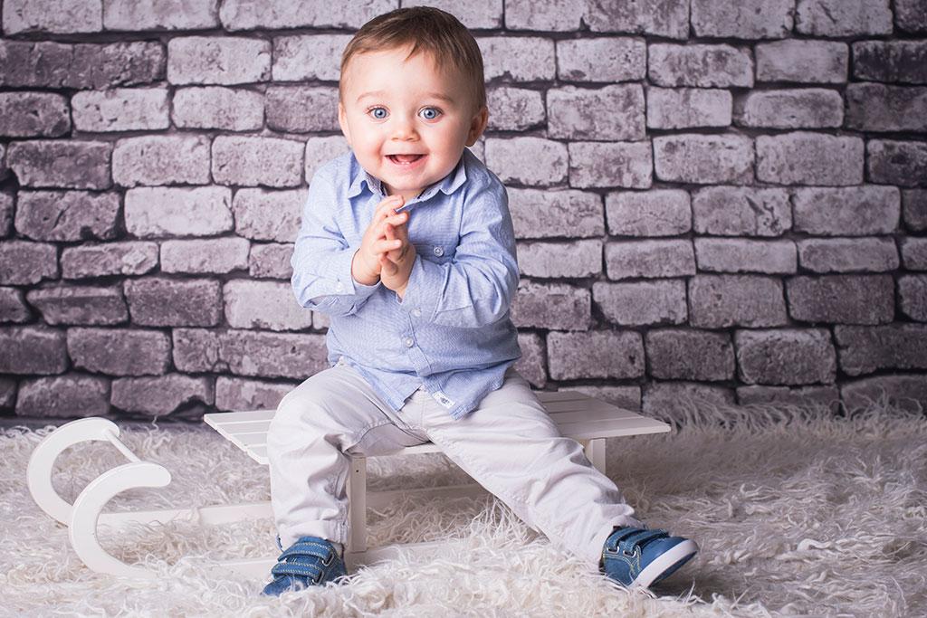 fotos de bebes Santander Oliver trineo
