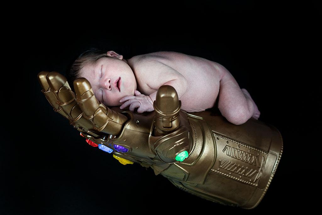fotos de bebes recién nacidos Santander Cantabria guante