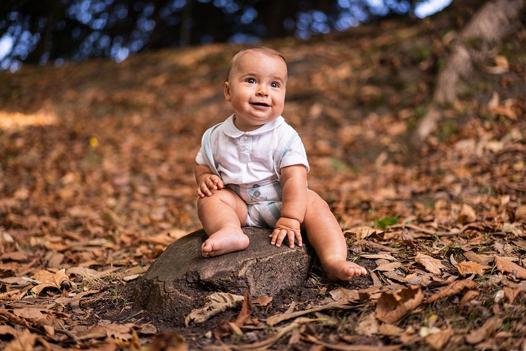 fotos de niños Marcos Greiz Santander otoño hojas