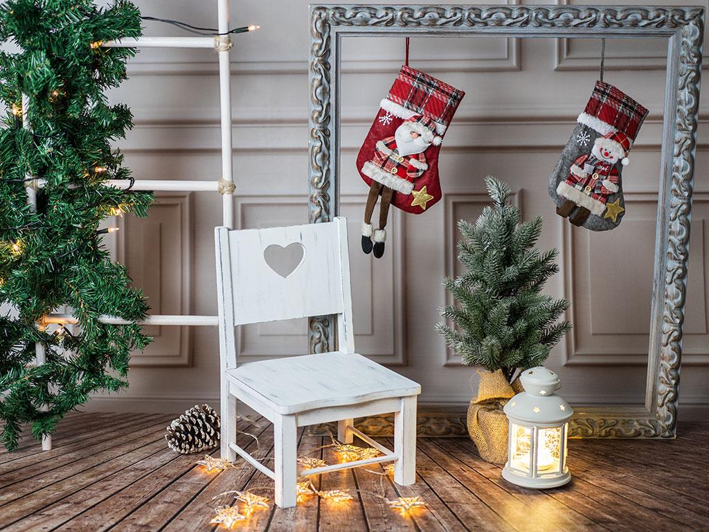 mini sesiones de Navidad Marcos Greiz set rustico
