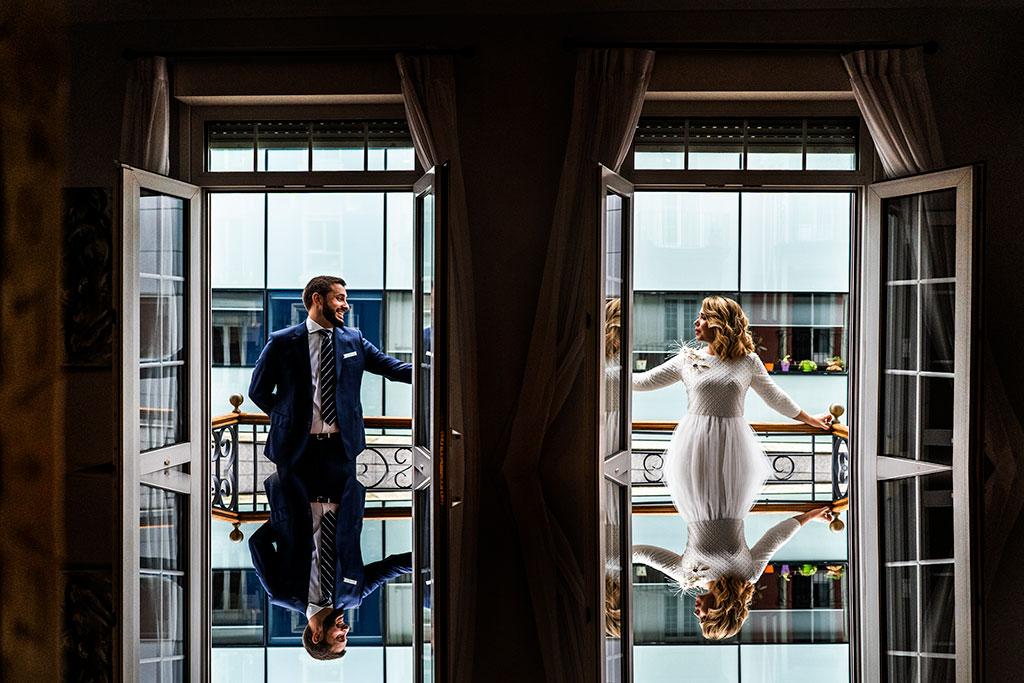 fotógrafo de bodas Cantabria Santander covid19 Marcos Greiz reflejo