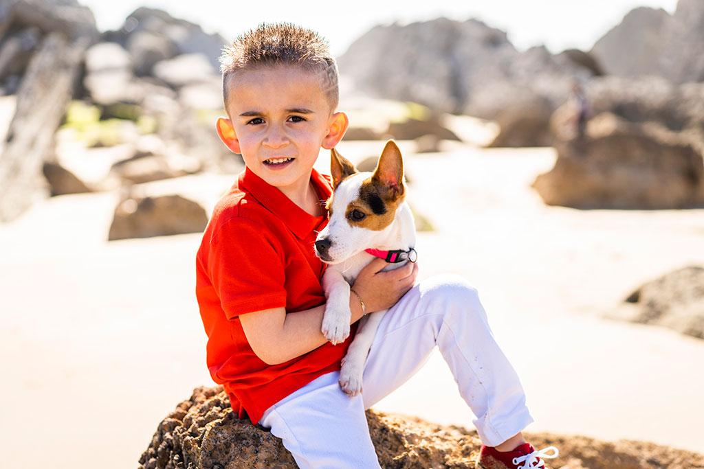 fotografía niños Cantabria Marcos Greiz arnia ivan perro